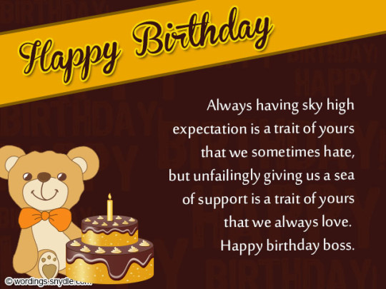Delightful Cake With Message Images For Birthday Wishes With Sayings E-Card For My Boss E7