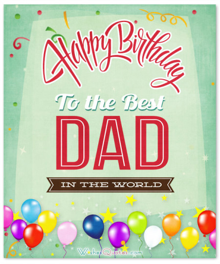 Designer Birthday Wishes E-Card For My Great Dad