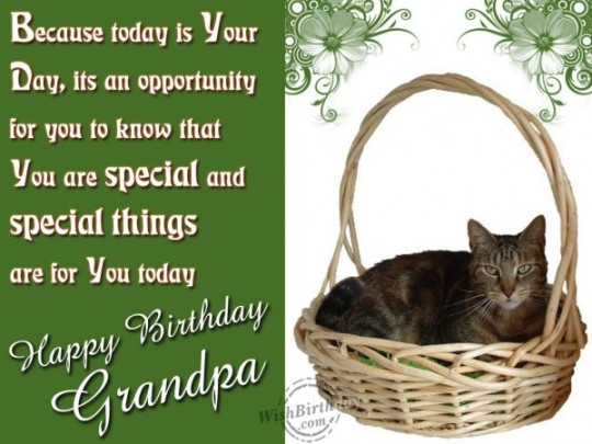 Elegant Birthday Wishes With Quotes For My Grandfather