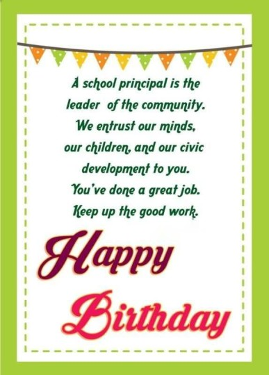 Special Birthday Wishes For My Dear Principal Nicewishes Happy Birthday Wishes To Principal