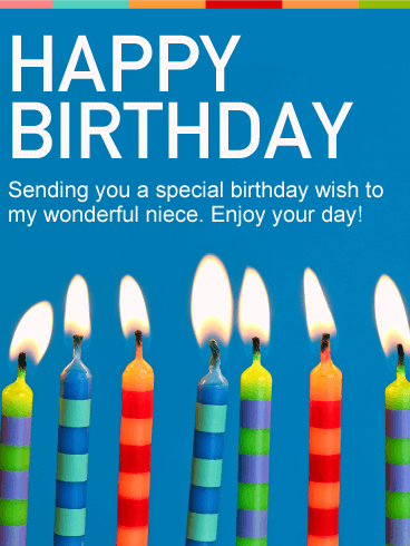 Ever Birthday Wishes Birthday E-Card Greeting For Niece 121s