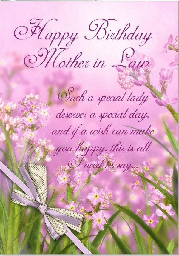 Excellent mother in law birthday greeting e card with best wishes excellent mother in law birthday greeting e card with best wishes m4hsunfo Gallery