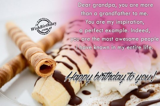 Extra Love For My Grandpa Birthday Wishes