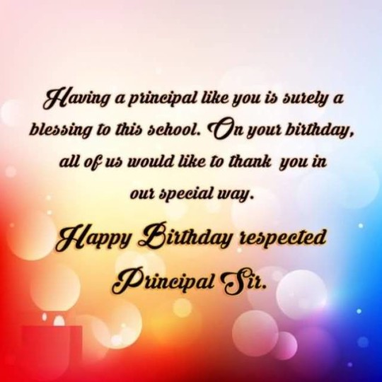 Fabulous Birthday  E-Card With Message Greetings For My Principal