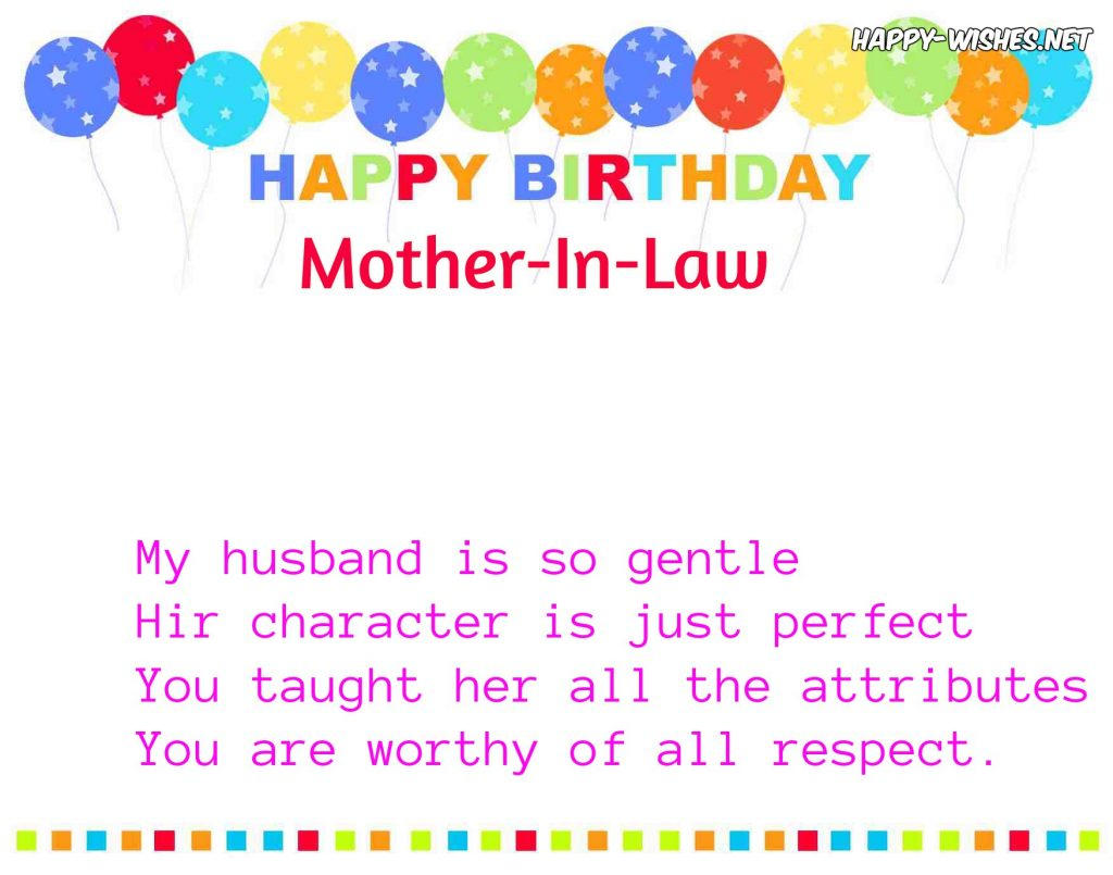 Fabulous Birthday Wishes With E Card Greetings For Mother In Law