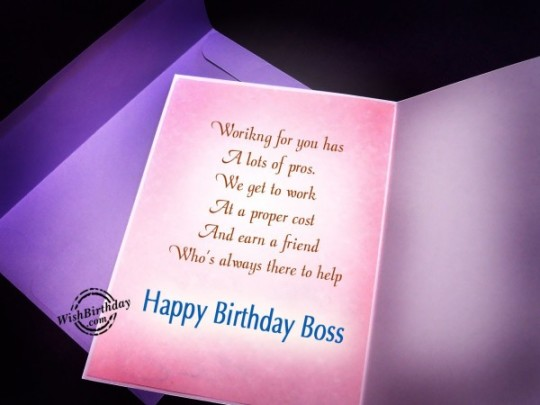 Fabulous Birthday Wishes E-Card With Greetings For Boss