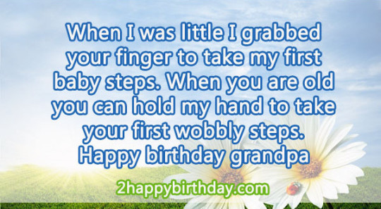 Fabulous Birthday  Wishes E-Card With Message For Best Grandpa