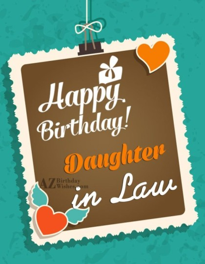 Fabulous Daughter In Law Birthday Wishes Greeting E-Card