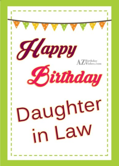 Fantastic Daughter In Law Birthday Wishes Greeting E-Card