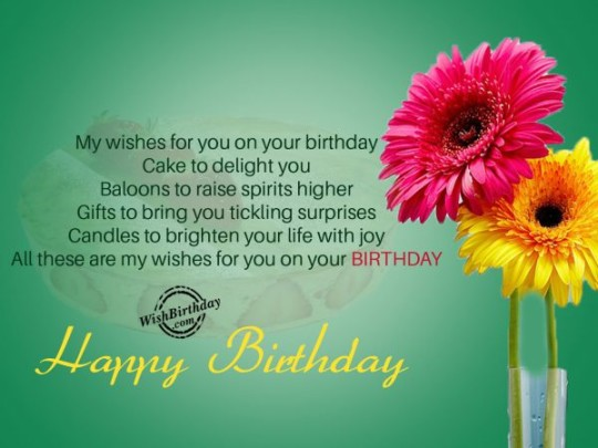 Floral Birthday Wishes E-Card With Message For Boyfriend _54swg4d7s