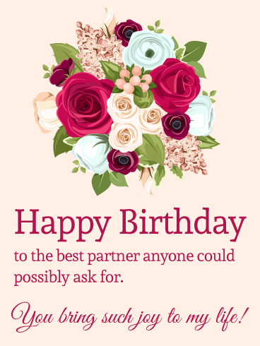 Floral Birthday Wishes With Greetings Quotes For My Love