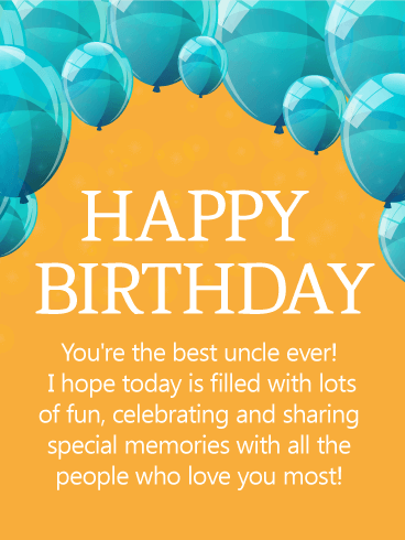Fun-Filled Birthday Card With Greetings For Uncle p7