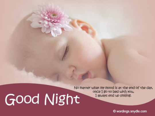 Good Night Images And Wishes With Little Baby Girl