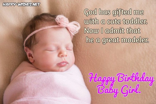 Graceful Birthday Image With Quotes For Baby girl