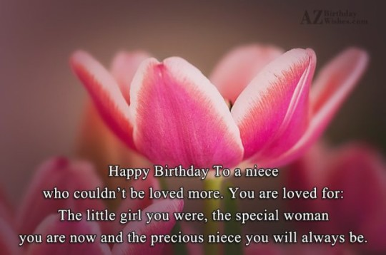 Graceful Birthday Wishes Birthday E-Card Greeting For Niece 121s