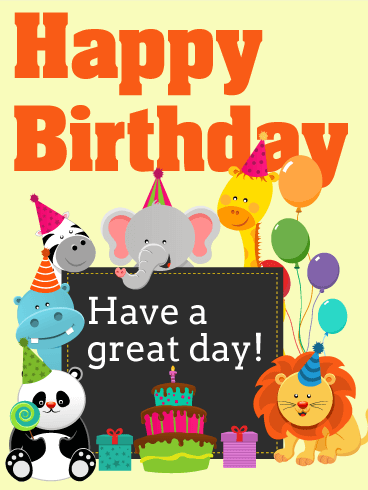 Graceful Birthday Wishes Card for baby girl