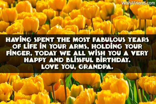 Graceful Birthday Wishes With Quotes For My Grandfather
