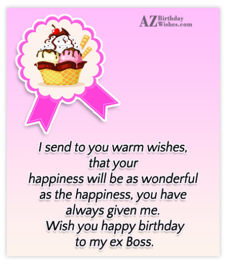 Graceful Card Ex-Boss Birthday Wishes Greeting E-Card