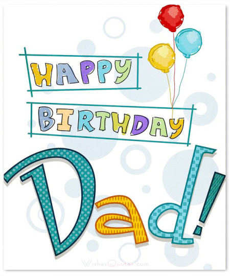 Graceful Dad Birthday Wishes With Card
