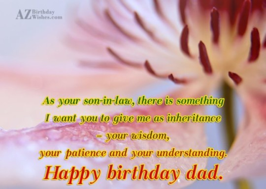 Great Father In Law Birthday Wishes Greeting E-Card 7sss