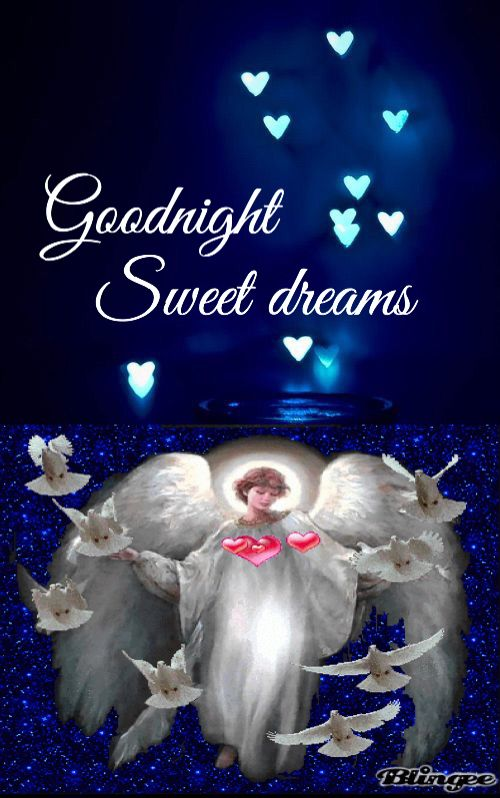 Greetings for good night wishes with angel and blessings of sweet greetings for good night wishes with angel m4hsunfo