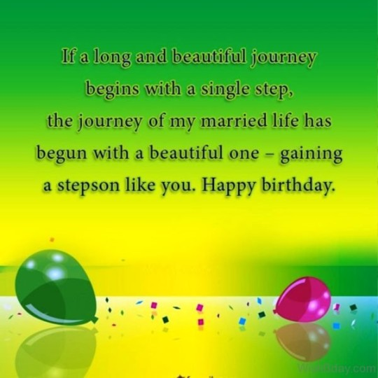 Happy Birthday Greeting Card For Stepson 7s