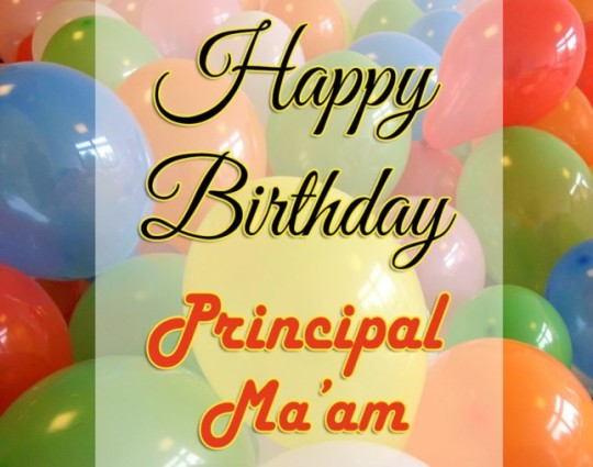 Have A Principal Gift With Balloons