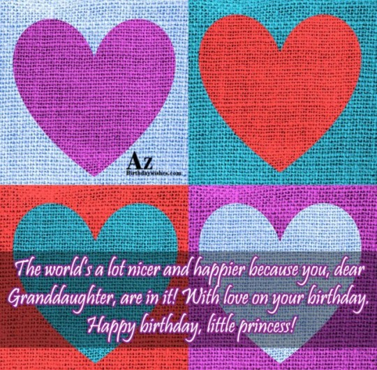 Heart Touching Birthday Wishes For Granddaughter-841s