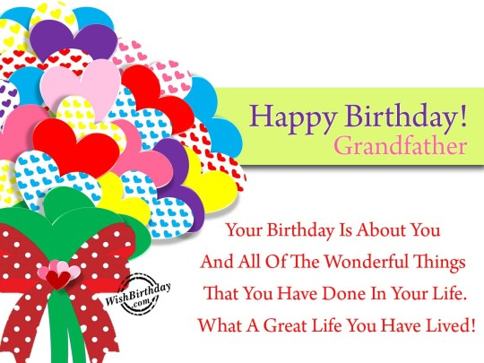 Heart Touching Birthday Wishes With Quotes For My Grandfather 7s