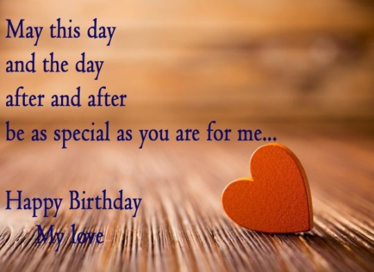 Heart Touching Images For Birthday Wishes With Sayings E-Card For My Love 7S9sh