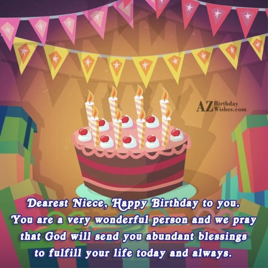 Incredible Birthday Wishes Birthday E-Card Greeting For Niece 121s