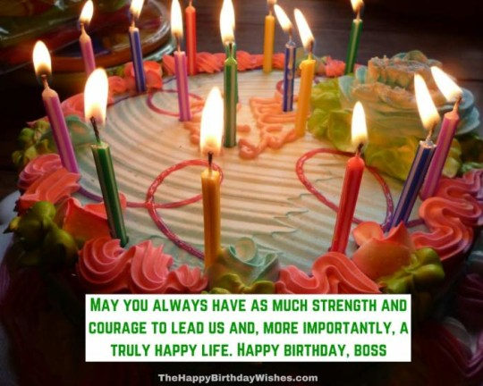 Incredible Boss Birthday Wishes With Stupendous Sweet Cake Candles G7