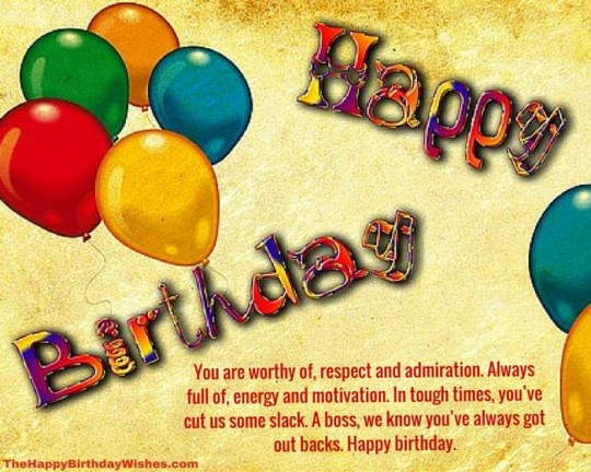 Incredible Images For Birthday Wishes With Sayings E-Card For My Boss E7
