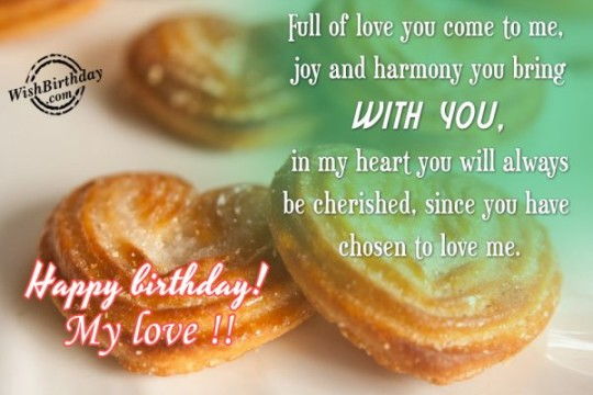 Incredible Images For Birthday Wishes With Sayings E-Card For My Love 7S9sh