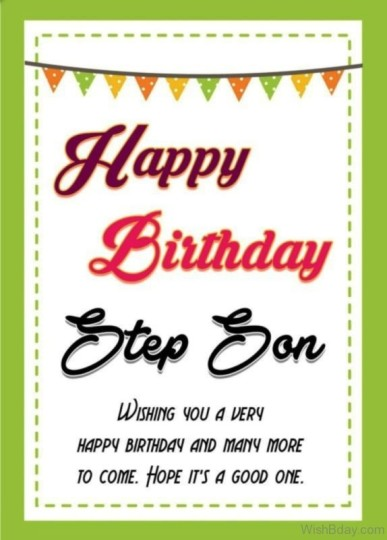 Joyful Birthday Greeting Card For Stepson