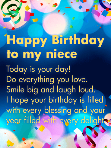 Joyful Birthday Wishes For Niece Birthday Laugh 121ss
