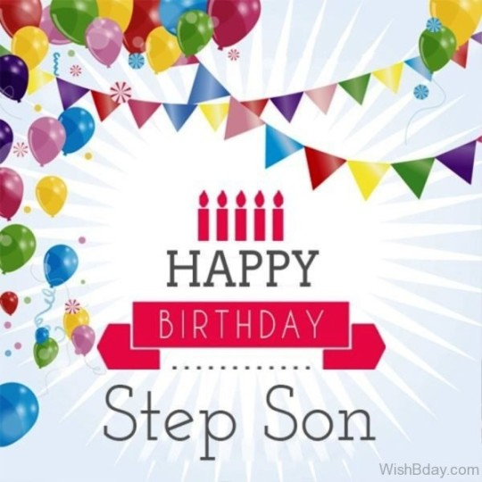 Joyful Stepson Birthday Wishes Saying E-Card
