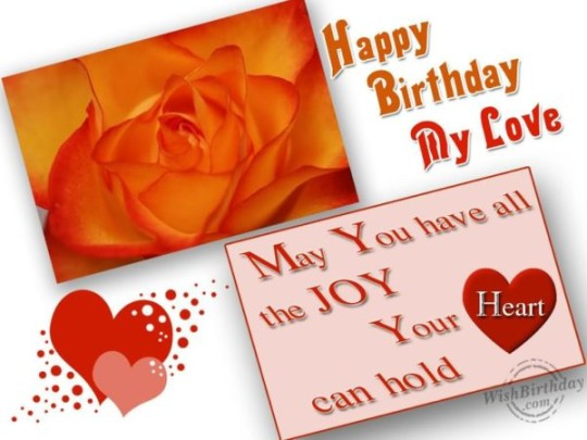 Love Darling Birthday Wishes E-Card For Boyfriend _54swg4d7s