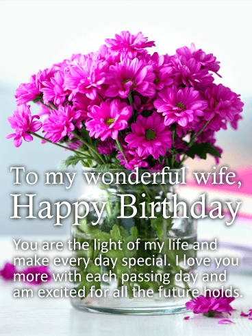 Lovely Greeting Card Birthday Wishes For My Sweet Wife Nicewishes