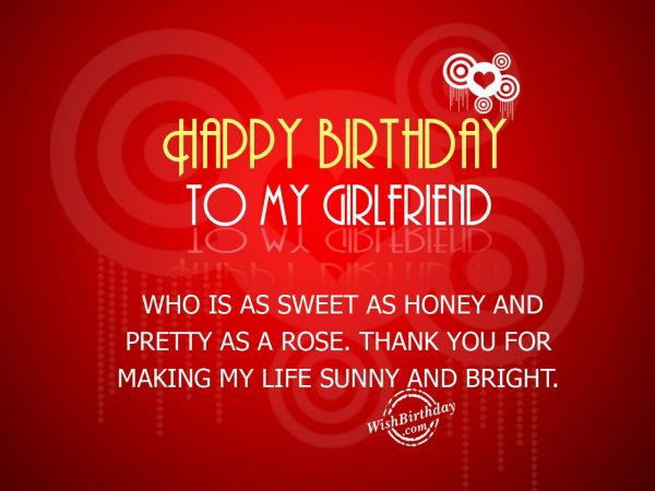 Birthday wishes for my girlfriend pics cupboard design galleries it s your birthday source lovely birthday wishes with wonderful message for my girl nicewishes m4hsunfo