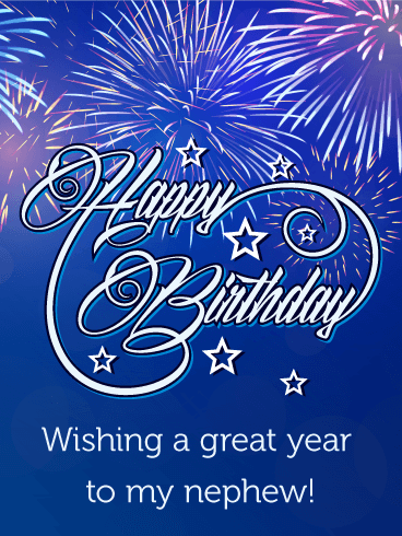 Lovely Brilliant Birthday Greeting Card For Best Nephew_E-Card_156jf4jf6uri7s
