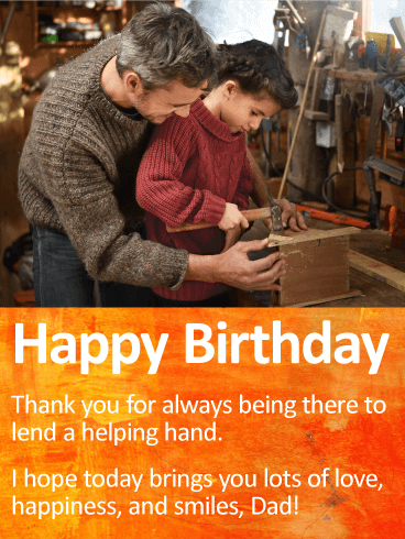 Lovely Dad Birthday Wishes E-Card