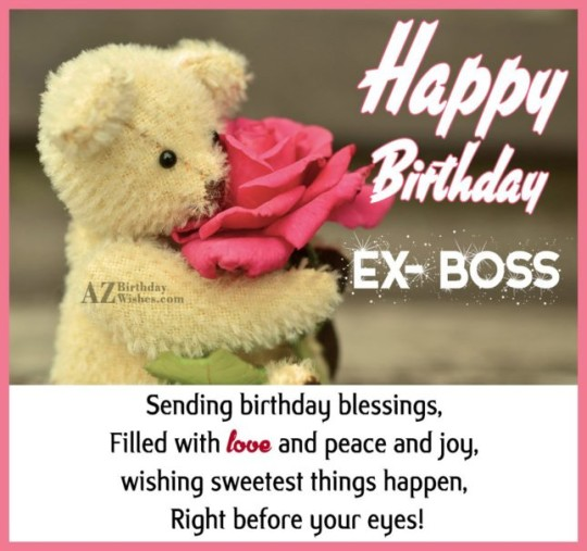 Lovely Ex-Boss Birthday Wishes Greeting E-Card
