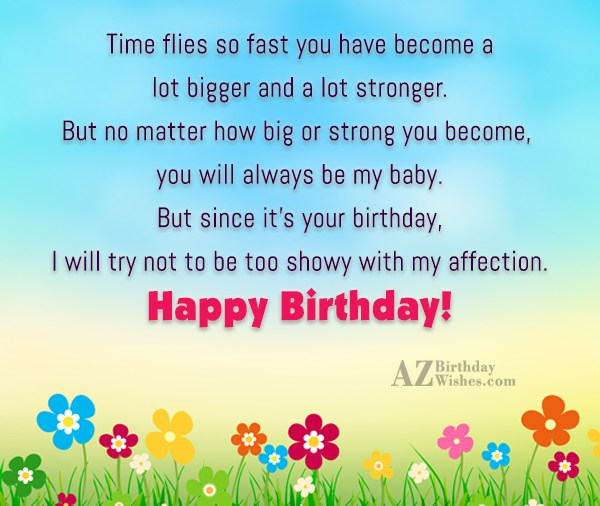 Lovely Son Birthday Wishes With Feelings Of Proud Nice Wishes