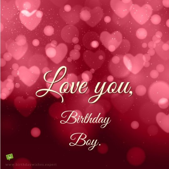 Lover Boy B'day Card For A Lovely Day
