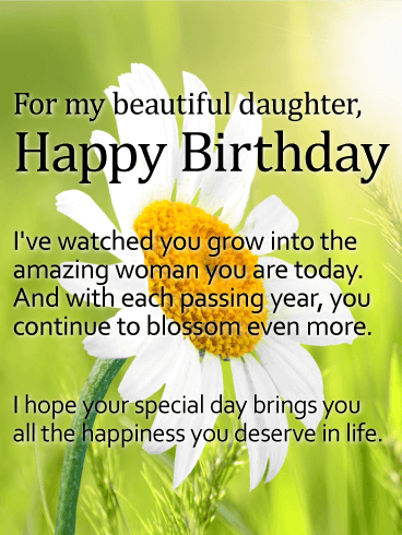 Magnificent Daughter Birthday Wishing Message E Card 2
