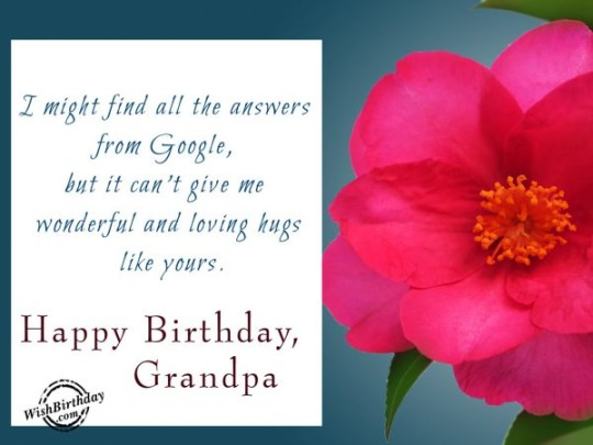 Marvelous Birthday wishes With Message For Grandpa