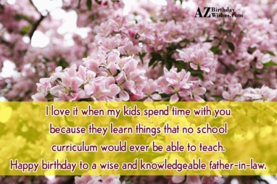 Marvelous Father In Law Birthday Wishes Greeting E-Card 7s (2)