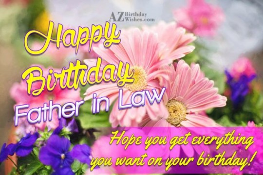 Marvelous Father In Law Birthday Wishes Greeting E-Card 7s
