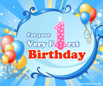 imágenes de first birthday wishes in hindi